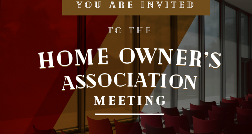 Home Owners Association Meeting